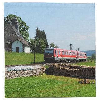 Triebwagen in Simtshausen Serviette