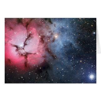 Trifid Nebelfleck-Raum-Astronomie Karte