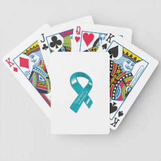 Trigeminalneuralgia-Bewusstseins-Band Bicycle Spielkarten