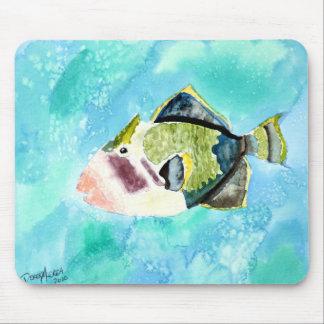 Triggerfisch-Seeleben-Malereikunstdrucke Mauspads