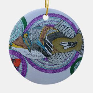 Triggerfische Rundes Keramik Ornament