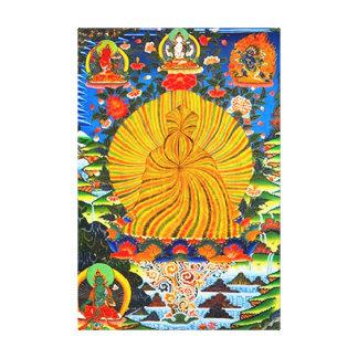 Trikaya Buddha starke positive Energie-Mandala Leinwanddruck