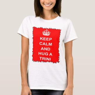 Trinidad and Tobago behalten Ruhe und umarmen ein T-Shirt