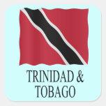 Trinidad and Tobago flag Vierkant Stickers