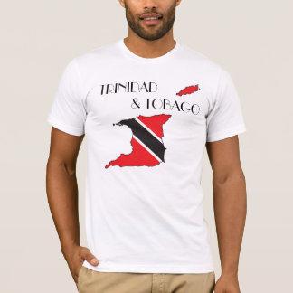 Trinidad and Tobago Flagge-Karte Shirt