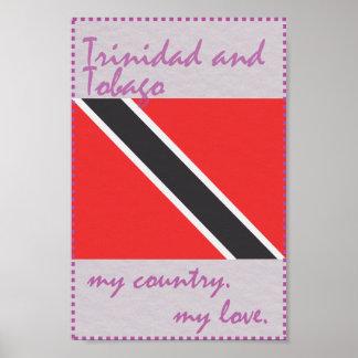 Trinidad and Tobago mein Land meine Liebe Poster