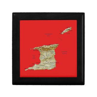 Trinidad- and Tobagokarten-Geschenkboxen Erinnerungskiste