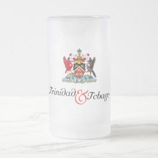 Trinidad- u. Tobago-Andenken Mattglas Bierglas
