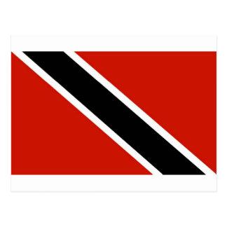 Trinidad und Tobago-Flagge Postkarte