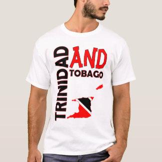 Trinidad und Tobago-Flaggen-Karte T-Shirt