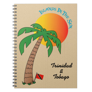 Trinidad und Tobago-Inseln in The Sun Notizblock