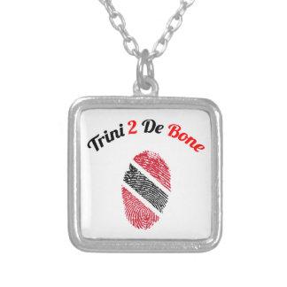 Trinidad und Tobago Trini 2 De Bone Halskette Mit Quadratischem Anhänger