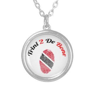 Trinidad und Tobago Trini 2 De Bone Halskette Mit Rundem Anhänger