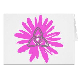 Trinité sur fleur stieg grußkarte