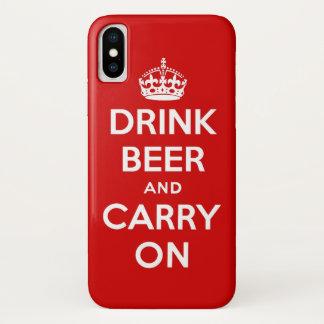 Trinken Sie Bier und machen Sie weiter iPhone X Hülle