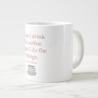 Trinken Sie den Kaffee Jumbo-Tasse