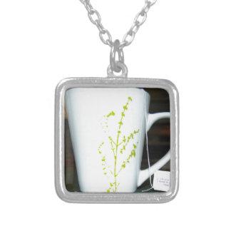 Trinken Sie einen Schale O Tee! Versilberte Kette