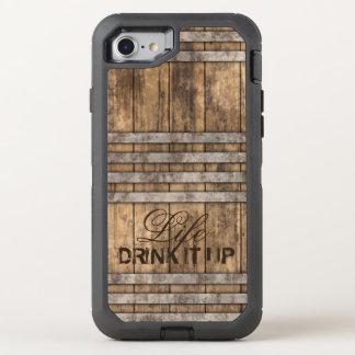 """""""TRINKEN Sie ES OBEN"""" Barrel Holz OtterBox Defender iPhone 8/7 Hülle"""