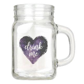 Trinken Sie mich Weckglas Einmachglas