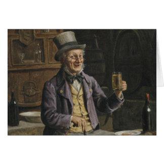 Trinkende Bier-Malerei Karte