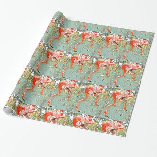 Trinkende Flamingo-Verpackung Geschenkpapier