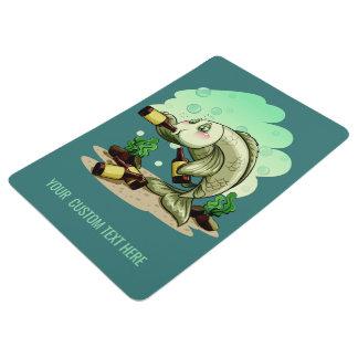 Trinkende Text-Bodenmatte der Fische Bodenmatte