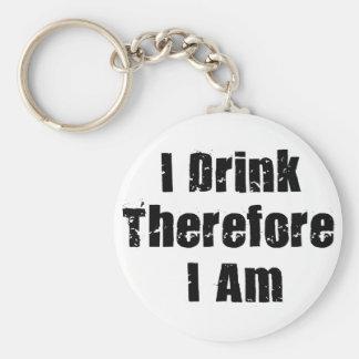 Trinkender Denker Schlüsselanhänger