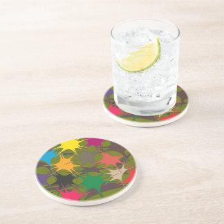 Trinkender MehrfarbenUntersetzer - Splattered Sandstein Untersetzer
