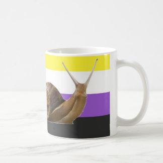 trinkendes Gerät der nonbinary Schnecke Kaffeetasse