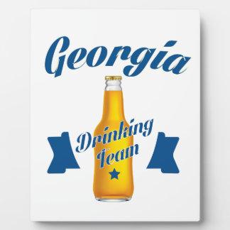 Trinkendes Team Georgia Fotoplatte