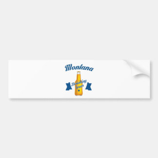 Trinkendes Team Montanas Autoaufkleber
