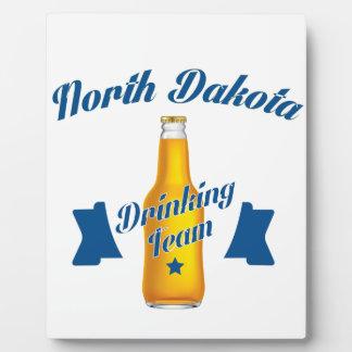 Trinkendes Team North Dakota Fotoplatte