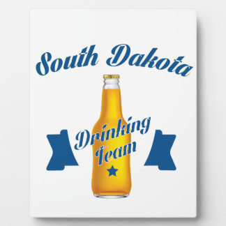 Trinkendes Team South Dakota Fotoplatte