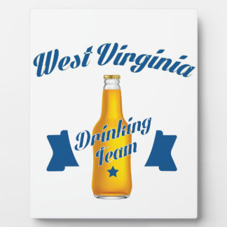 Trinkendes Team Wisconsins Fotoplatte