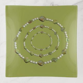 Trinket-Behälter - Kreise der Perlen und der Dekoschale