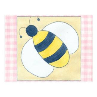 Trio der Bienen mit Blumen Postkarte