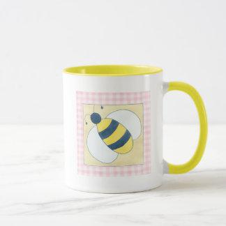 Trio der Bienen mit Blumen Tasse