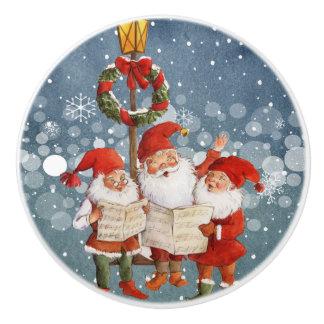 Trio der Gesang-Elfe Keramikknauf