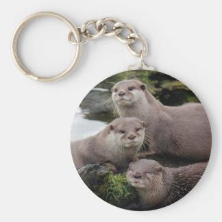 Trio der Otter Schlüsselanhänger