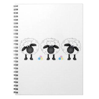 Trio der Schafe Spiral Notizblock