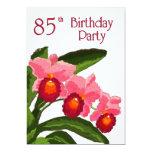 Trio von Cattleyas Geburtstags-Party 85 12,7 X 17,8 Cm Einladungskarte