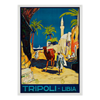 Tripoli Libia - Vintage Reise-Plakate