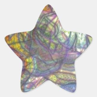 Trippy farbige Bleistift-Haut Stern-Aufkleber
