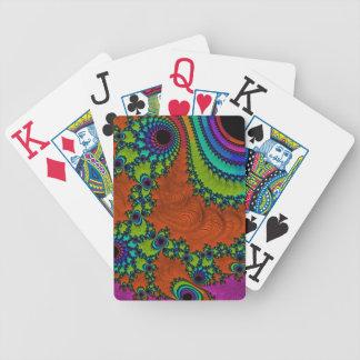 Trippy Fraktal-Kunst Spielkarten