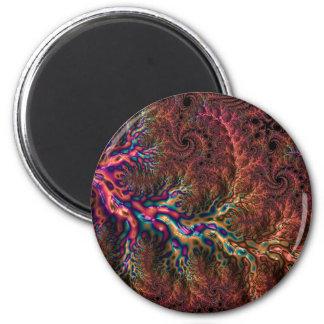Trippy Fraktal Runder Magnet 5,7 Cm