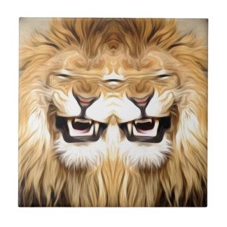 Trippy glücklicher Löwe Keramikfliese