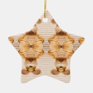 Trippy Häschen Keramik Ornament