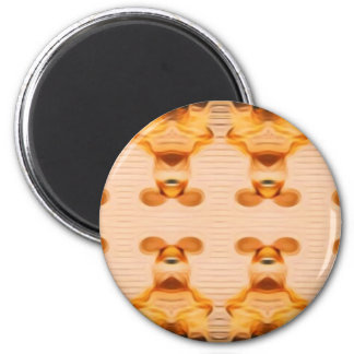 Trippy Häschen Runder Magnet 5,1 Cm