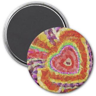 Trippy Herz-Magnet Runder Magnet 7,6 Cm