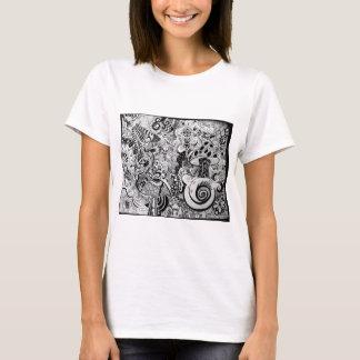 Trippy Kunst-Entwurf T-Shirt